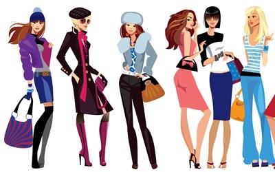 fashion-vector-girls-shopping