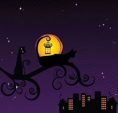 black-silhouette-of-cat-at-night-vector-illustration-91134