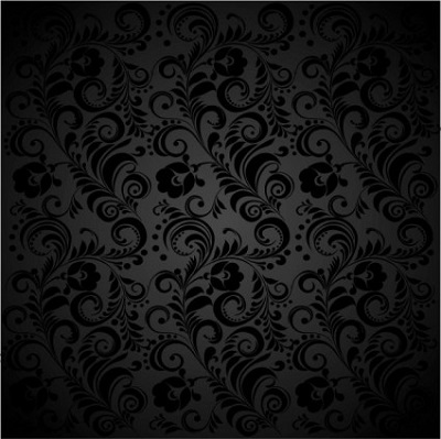 black_background_floral_02_vector_151698